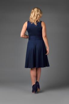 Платье П 706 (темно-синий)