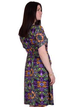 Платье П 752/1 (огурцы на фиолетовом)