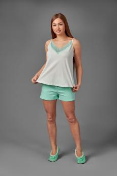 Женская пижама ЖП 043 (молочный+ментоловый)