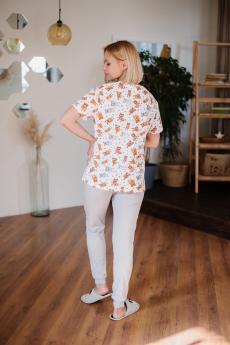 Пижама женская ЖП 039/3 (принт котята+серый)