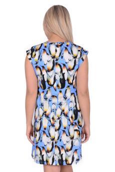 Сорочка Д 42 (принт пингвины)