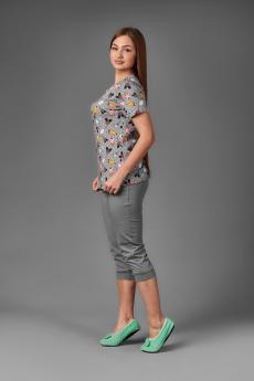 Женский костюм ЖК 024 (серый+принт леденцы)