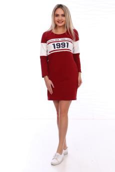 Платье  ПЛ-100п-43 бордо