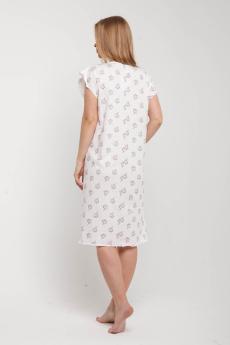 Ночная сорочка НСК-216 жемчужно-белая