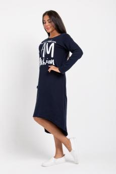 Платье ПТФ-351 5027 (Тёмно-синий)