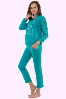 костюм женский КМФ-4511 Бирюзово-синий