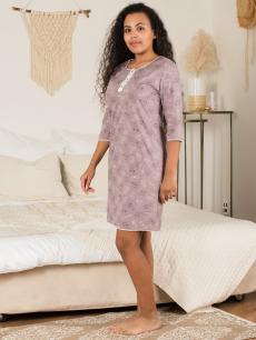 Ночная сорочка НСК-238 пастельно-фиолетовый