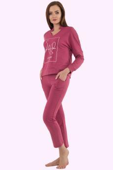 костюм женский КМФ-4511 красно-фиолетовый