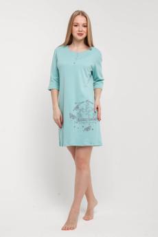 Ночная сорочка НСИ-233 мятно-бирюзовая
