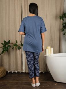 Комплект женский КТК-4219 серо-синий
