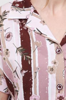 Рубашка женская РК-124 светло-розовая