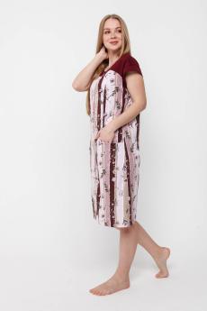 Халат женский ХК-311 светло-розовый
