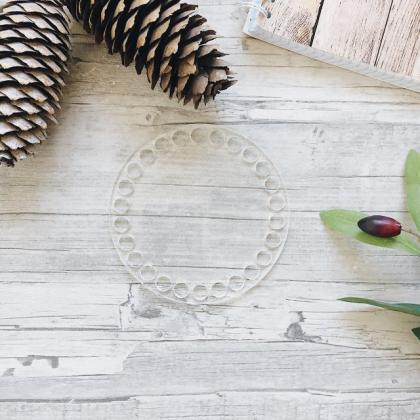 Прозрачное донышко из оргстекла, круг 15 см