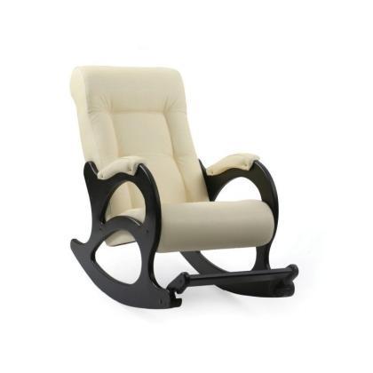 Кресло качалка Модель 44 без декоративной косички белое