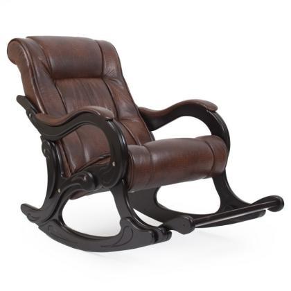 Кресло качалка Модель 77 коричневое