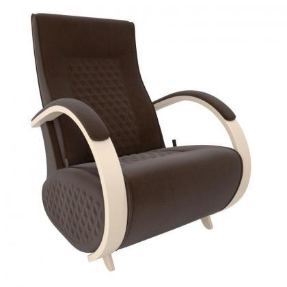 Кресло качалка глайдер Модель G3 коричневое