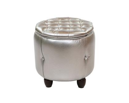 Пуф Вена-1 серебряный