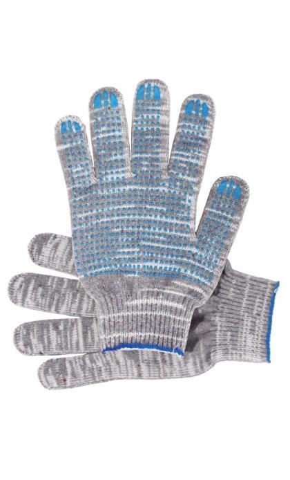 """Перчатки """"Рабочие"""" с ПВХ графит 5-и нитка (точка)"""
