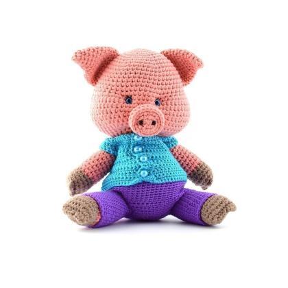"""Мягкая игрушка """"Розовый поросёнок"""""""