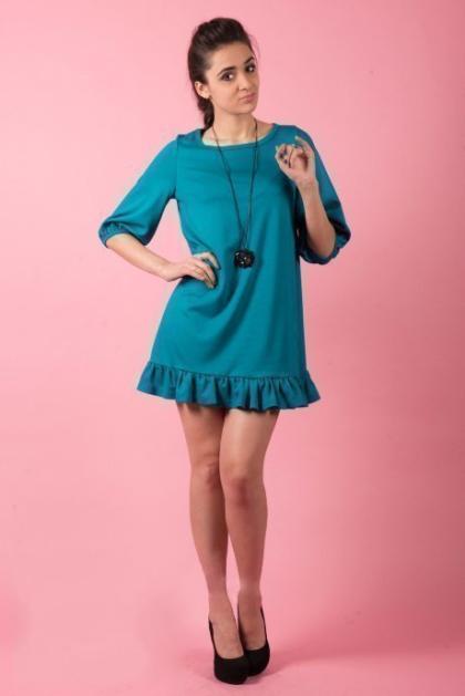 Платье П 374 (изумруд)