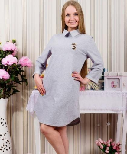 Платье П 429 (серый)