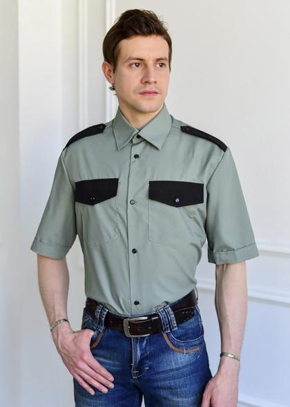 """Рубашка охранника """"Олива"""" короткий рукав"""