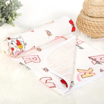Детское трикотажное одеяло-покрывало Буквы