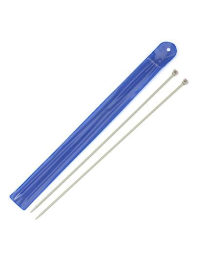 Спицы для вязания, диаметр 3,5 мм, длина 33 см, пластик, 2 шт