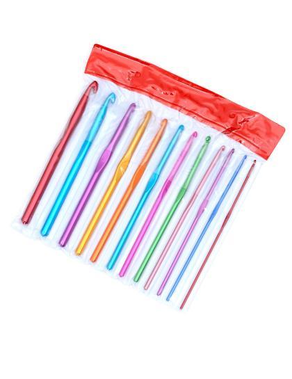 Крючки для вязания металлические 12 штук в наборе