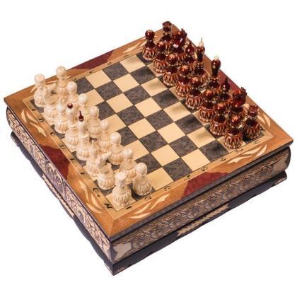 Шахматы резные ручной работы