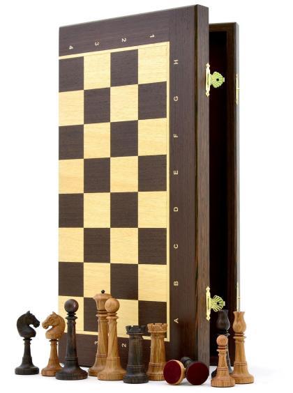 Шахматы «Элеганс венге» доска панская