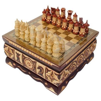 Шахматы резные ручной работы малые