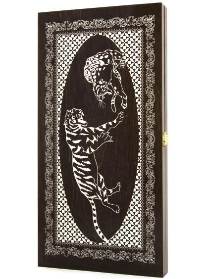Нарды «Тигр» тонированные
