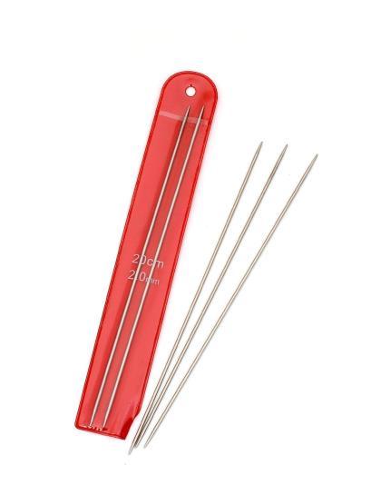 Спицы носочные, диаметр 2 мм, длина 20 см, металл, 5 шт