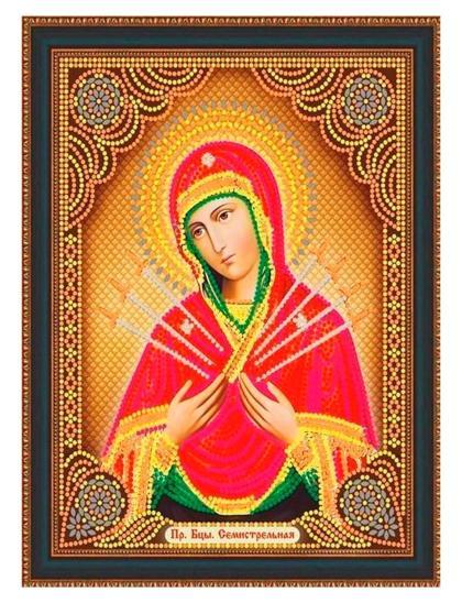 """Алмазная мозаика на подрамнике """"Божией Матери. Семистрельная"""" икона"""