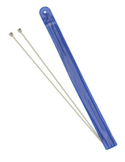 Спицы для вязания, диаметр 2,5 мм, длина 33 см, пластик, 2 шт