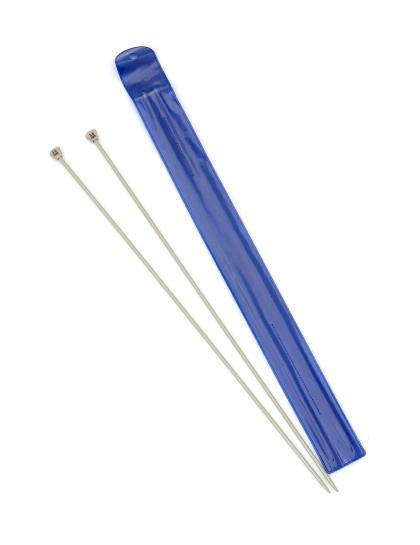 Спицы для вязания, диаметр 3 мм, длина 33 см, пластик, 2 шт