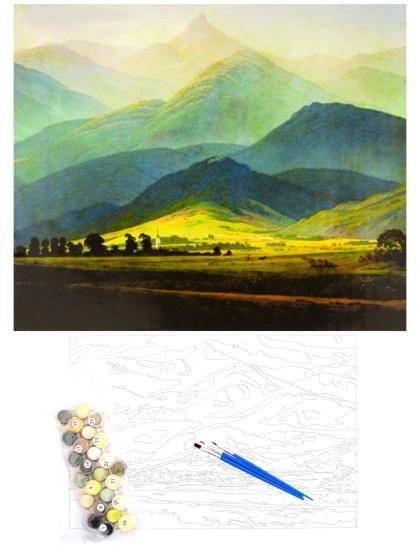 """Картина по номерам  на подрамнике """"Изумрудные холмы"""""""