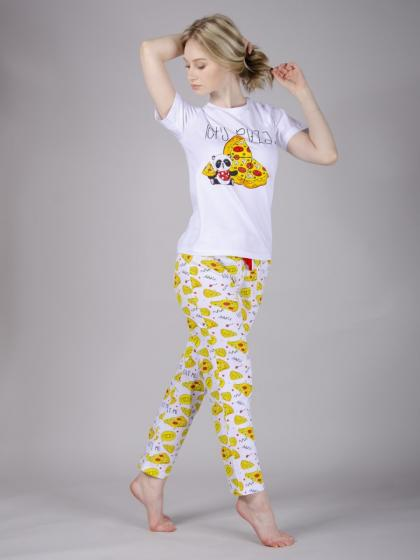 Пижама Пицца 4 брюки, трикотаж