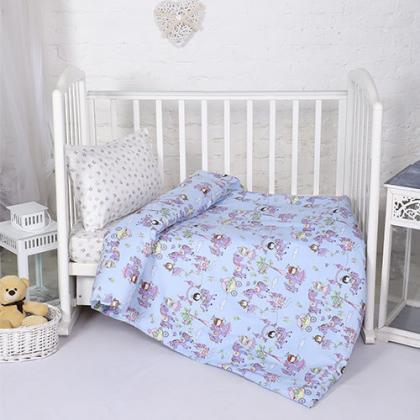 КПБ BabyRelax детский ясельный, перкаль, 100 % хлопок, пл. 105 гр./кв.м., Принцессы