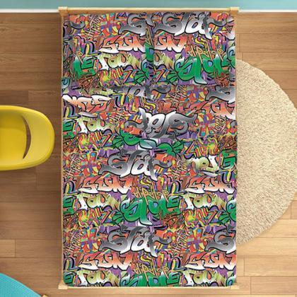 КПБ ДайПоспать, с 2-мя наволочками 70х70, бязь, 100 % хлопок, пл. 125 гр./кв.м., Граффити