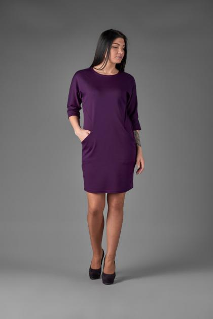 Платье П 497/2 (баклажановый)