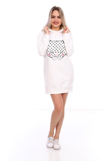 Платье-свитшот  ПЛ-8-60 молочный